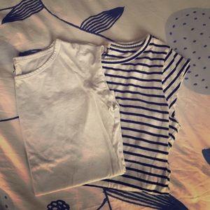Cotton, scoop neck shirts